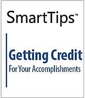 Image of SmartTips: Getting Credit For Your Accomplishments
